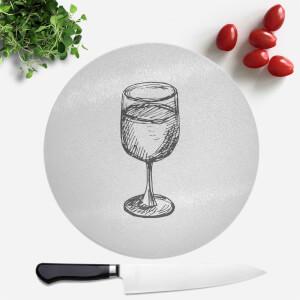 Wine Glass Round Chopping Board