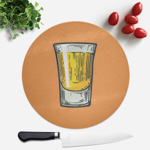 Shot Round Chopping Board