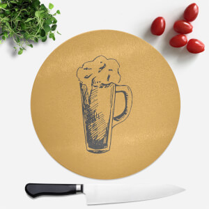 Beer Glass Round Chopping Board