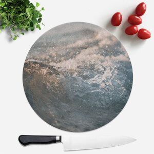 Wave Texture Round Chopping Board