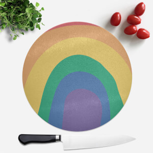 Close Up Rainbow Round Chopping Board