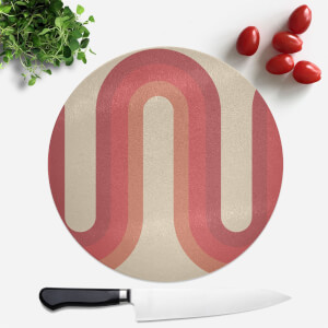 Red Groove Round Chopping Board