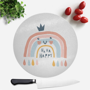 Ha Ha Happy Round Chopping Board