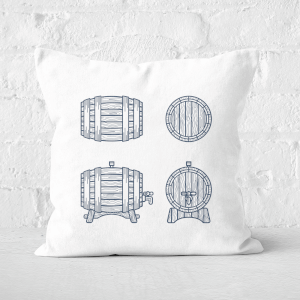 Beer Barrels Square Cushion