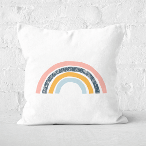 Textured Rainbow Square Cushion