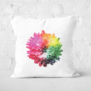 Fluro Flower Square Cushion
