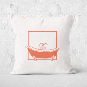 Bathtime Square Cushion