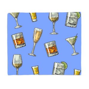 Mixed Drinks Fleece Blanket