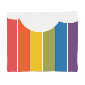 Rainbow Cloud Fleece Blanket
