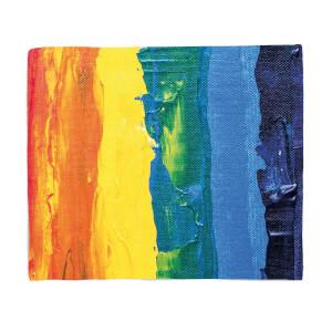 Acrylic Rainbow Fleece Blanket