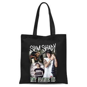 Eminem My Name Is Slim Shady Tote Bag - Black