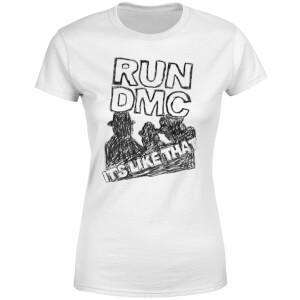 Run DMC It's Like That Women's T-Shirt - White