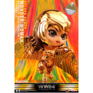 Mini Figurine Cosbaby Wonder Woman Armure Dorée (Version Métallique) Wonder Woman 1984 10cm - Hot Toys