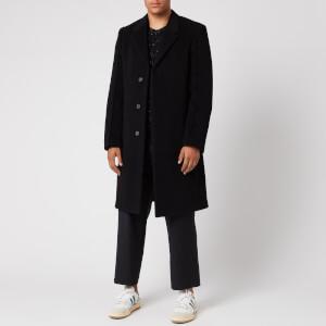 Maison Margiela Men's Wool Velour Coat - Black
