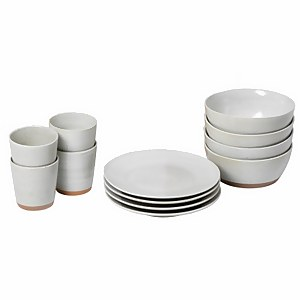 Broste Copenhagen Grod Stoneware Table Set - Sand