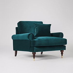 Swoon Sutton Velvet Armchair