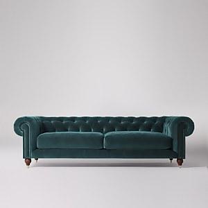 Swoon Winston Velvet 4 Seater Sofa