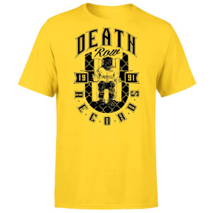 T-shirt Death Row Records 1991 - Jaune - Unisexe