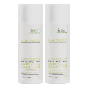 Plantworx Hand and Body Ultra-Sensitive Sanitiser Duo 2 x 300ml