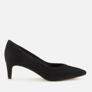 Clarks Women's Laina55 Court2 Suede Court Shoes - Black