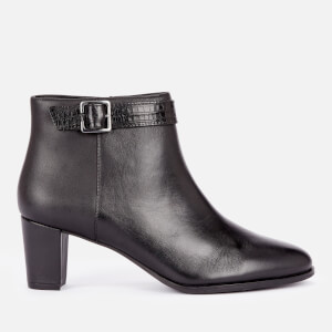 Clarks Women's Kaylin60 Leather Heeled Ankle Boots - Black
