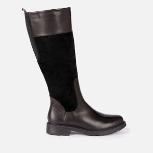 Clarks Women's Orinoco 2 Hi Leather/Warm Lined Knee High Boots - Black