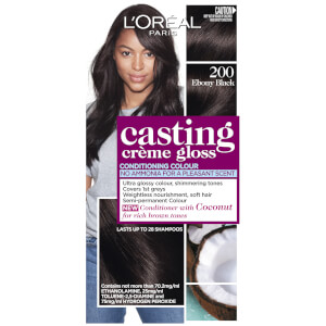 L'Oréal Paris Casting Creme Gloss Semi-Permanent Hair Colour - Ebony Black 200