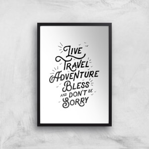The Motivated Type Live Travel Adventure Bless Giclee Art Print