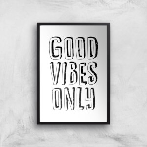 The Motivated Type Good Vibes Only 3D Giclee Art Print