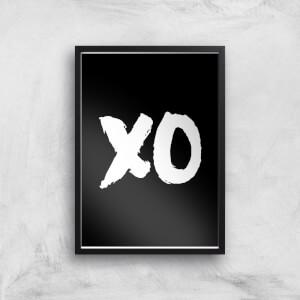 The Motivated Type Xo Black Giclee Art Print