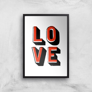 The Motivated Type Love Offset Giclee Art Print
