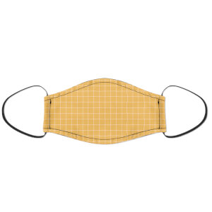 Yellow Checker Face Mask