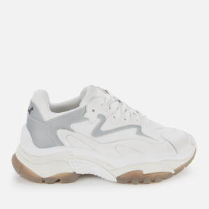 Ash Women's Addict Chunky Running Style Trainers - White/Silver