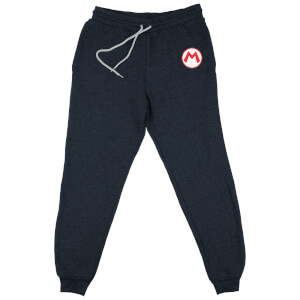 Nintendo Super Mario Embroidered Kids' Piped Joggers - Navy