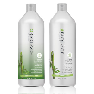 Biolage Advanced FiberStrong Strengthening Duo Litre Set for Fragile Hair