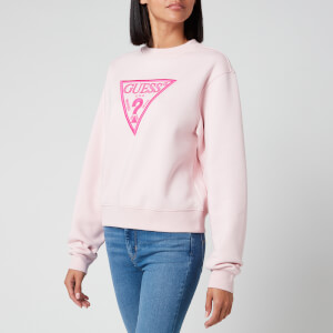 Guess Women's Basic Triangle Sweatshirt - Peony Blush