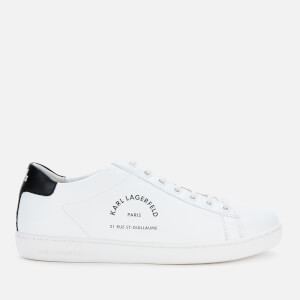 Karl Lagerfeld Women's Kupsole II Mason Leather Trainers - White