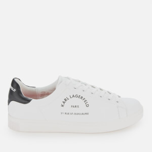Karl Lagerfeld Men's Kourt Maison Leather Trainers - White