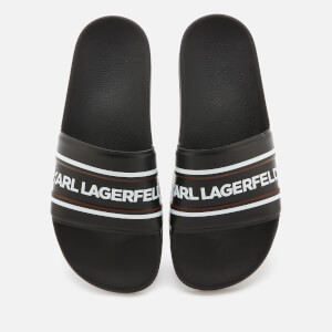 Karl Lagerfeld Men's Kondo Contrast Slide Sandals - Black