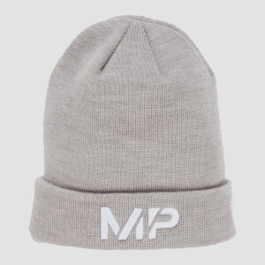 MP NEW ERA Cuff Knitted Beanie - Chrome/White
