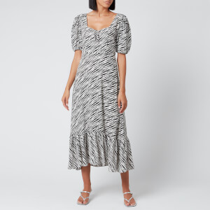 Faithfull the Brand Women's Gabriela Midi Dress - Blance Animal Print