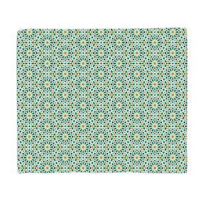 Eid Mubarak Tile Earth Tones Fleece Blanket