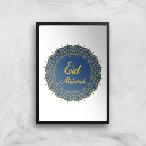 Eid Mubarak Royal Tones Wreath Giclee Art Print