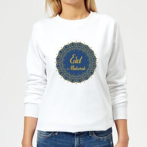 Eid Mubarak Royal Tones Wreath Women's Sweatshirt - White