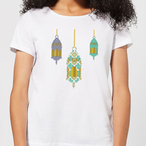 Eid Mubarak Lamps Women's T-Shirt - White
