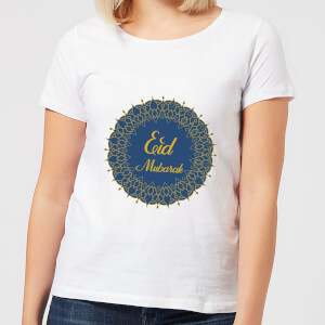 Eid Mubarak Royal Tones Wreath Women's T-Shirt - White