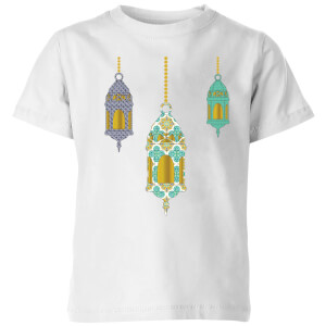 Eid Mubarak Lamps Kids' T-Shirt - White