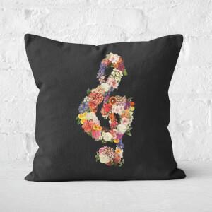 Flower Music Heart Square Cushion