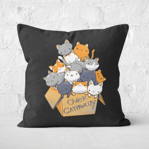 Over Catpawcity Square Cushion