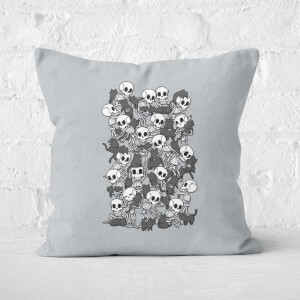Cat Skull Party Square Cushion